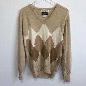 Vintage 80's Men's McGeorge Cashmere Sweater 42